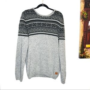 NWT Buffalo David Bitton Grey Combo Knit Sweater